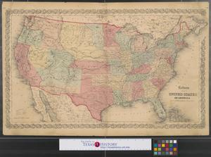 Primary view of object titled 'Colton's map of the United States of America.'.