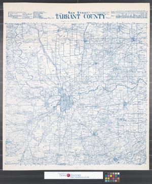 Primary view of object titled 'Sam Street's map of Tarrant County Texas.'.
