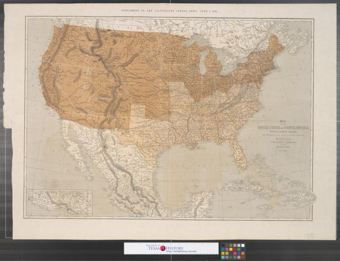 Map of the United States of North America, upper & lower Canada, New ...