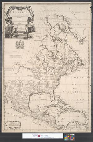 Primary view of North America: corrected from the observations communicated to the Royal Society at London, and the Royal Academy at Paris.
