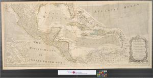 Primary view of object titled 'A new and correct map of North America with the West India Islands : divided according to the last treaty of peace, concluded at Paris, 10th Feby. 1763 ; wherein are particularly distinguished, the several provinces and colonies, which compose the British Empire [Sheet 2].'.