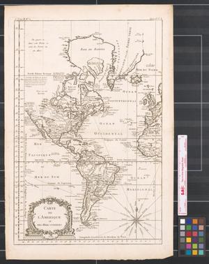 Primary view of Carte de l'Amerique et des mers voisines.