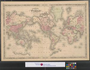 Primary view of object titled 'Johnson's map of the world on Mercator's projection.'.