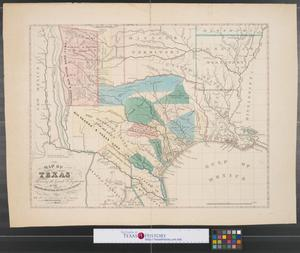Primary view of object titled 'Map of Texas shewing [sic.] the grants in possession of the Colorado & Red River Land Compy.'.