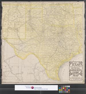 Primary view of object titled 'Rand McNally standard map of Texas.'.