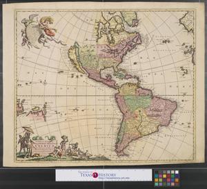 Primary view of Novissima et accuratissima septentrionalis ac meridionalis Americae : descriptio, multis locis regentibus aucta et correctâe divisa in onnes partes hodiernas.