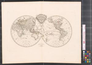 Primary view of Mappe-Monde en deux hémisphèrea.