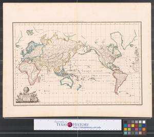Primary view of Mappe-Monde sur la projection réduite de mercator.