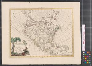 Primary view of America settentrionale divisa ne' suoi principali stati.
