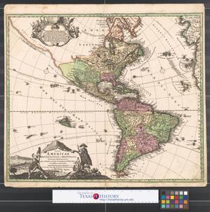 Primary view of Totius Americae Septentrionalis et Meridionalis novissima repræsentatio : quam ex singulis recentium Geographorum Tabulis collectā