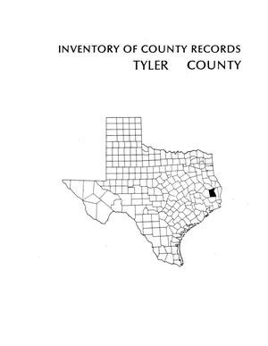 Primary view of object titled 'Inventory of county records, Tyler County courthouse, Woodville, Texas'.
