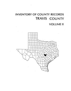 Primary view of object titled 'Inventory of county records, Travis County courthouse, Austin, Texas, Volume 2'.