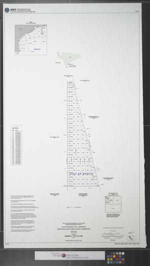 Primary view of object titled 'Outer continental shelf leasing map : High Island Area East Addition Texas'.