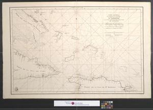 Primary view of Carta esferica que comprehende los desemboques al norte de la Isla de Sto. Domingo y la parte oriental del canal viejo de Bahama.
