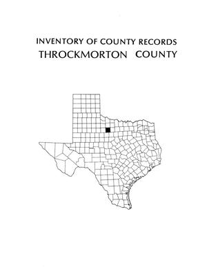 Primary view of object titled 'Inventory of county records, Throckmorton County courthouse, Throckmorton, Texas'.