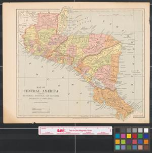 Primary view of object titled 'Map of Central America: comprising Guatemala, Honduras, San Salvador, Nicaragua & Costa Rica.'.
