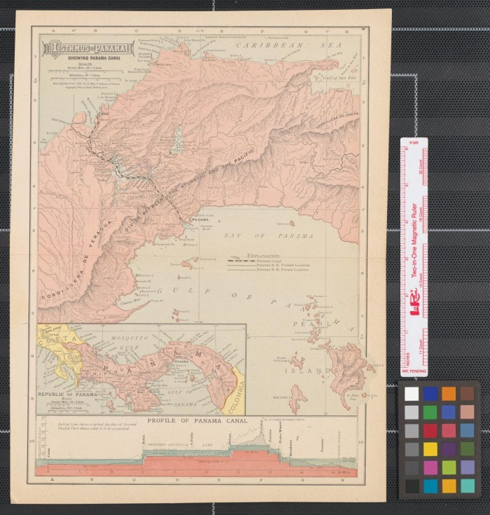 Isthmus of Panama. : showing Panama Canal. - The Portal to Texas History