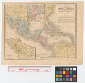 Primary view of Map of Mexico, Central America, and the West Indies.