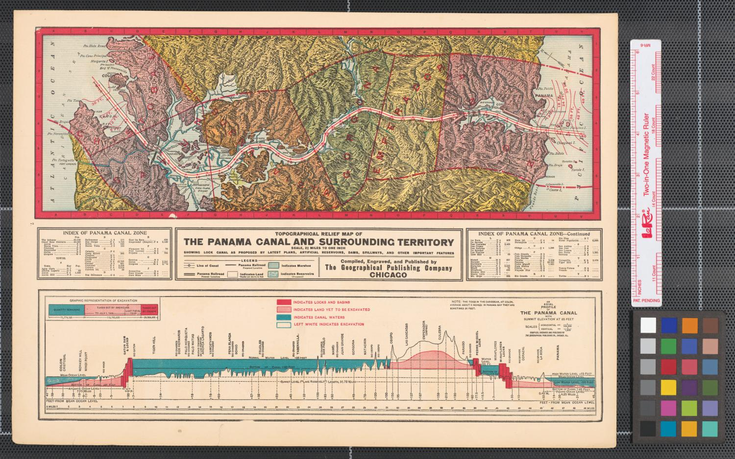 Topographic Map Of Panama.Topographical Relief Map Of The Panama Canal And Surrounding