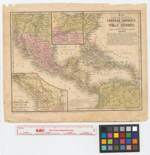 Primary view of object titled 'Map of Mexico, Central America, and the West Indies'.