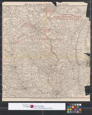 Primary view of object titled 'Grouping of western trunk line territory.'.