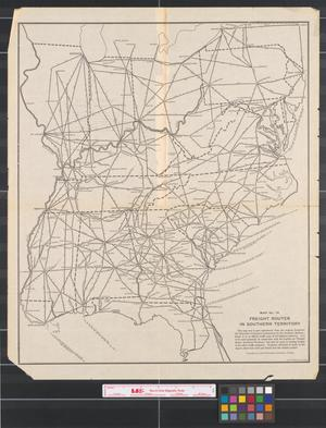 Primary view of object titled 'Freight routes in southern territory.'.
