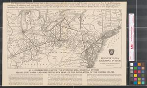 Primary view of object titled 'Pennsylvania Railroad System, the route of the Broadway Limited.'.