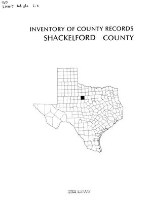 Primary view of object titled 'Inventory of county records, Shackelford County Courthouse, Albany, Texas'.
