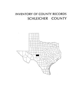 Primary view of object titled 'Inventory of county records, Schleicher County Courthouse, Eldorado, Texas'.