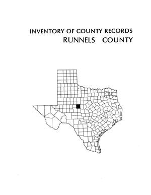 Inventory of county records, Runnels County Courthouse, Ballinger, Texas