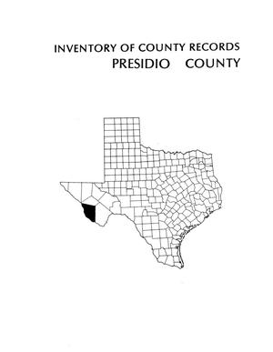 Primary view of object titled 'Inventory of county records, Presidio County courthouse, Marfa, Texas'.