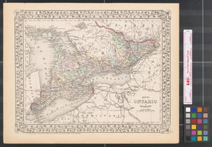 Primary view of object titled 'Map of Ontario in counties.'.