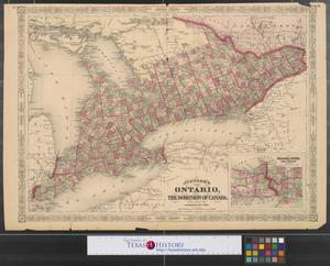 Primary view of object titled 'Johnson's Ontario, of the dominion of Canada.'.