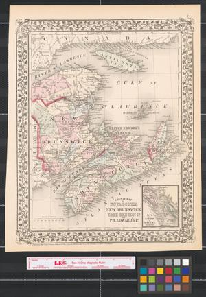 County map of Nova Scotia, New Brunswick, Cape Breton Id., and Pr. Edward's Id.