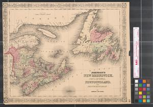 Primary view of object titled 'Johnson's New Brunswick, Nova Scotia, Newfoundland and Prince Edward Id.'.
