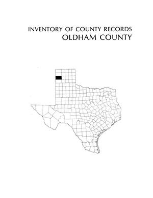 Primary view of object titled 'Inventory of county records, Oldham County courthouse, Vega, Texas'.
