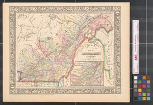 Primary view of object titled 'Map of Canada East in counties.'.