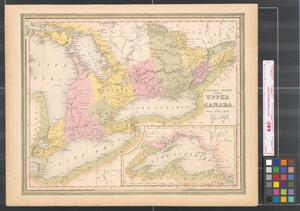Primary view of object titled 'Canada West, formerly Upper Canada.'.