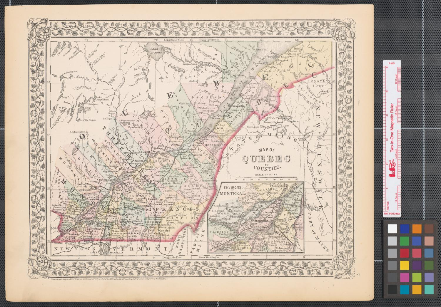 Map of Quebec in counties.                                                                                                      [Sequence #]: 1 of 2