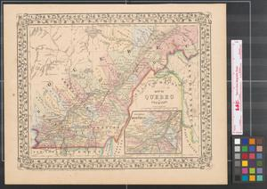 Primary view of object titled 'Map of Quebec in counties.'.