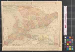 Primary view of object titled '[Maps of Ontario and Quebec]'.