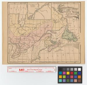 Primary view of object titled 'British provinces in North America.'.