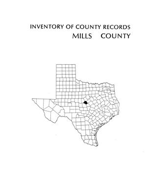 Primary view of object titled 'Inventory of county records, Mills County Courthouse, Goldthwaite, Texas'.