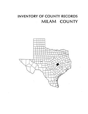 Primary view of object titled 'Inventory of county records, Milam County Courthouse, Cameron, Texas'.
