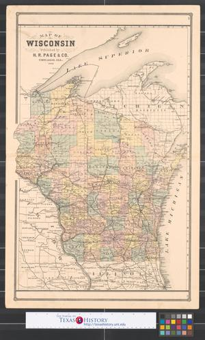 Primary view of object titled 'Map of Wisconsin.'.