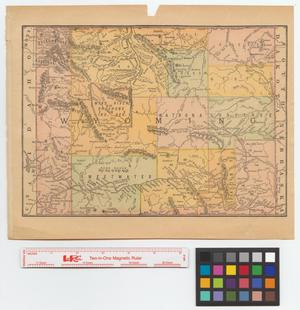 Primary view of object titled '[Map of Wyoming]'.