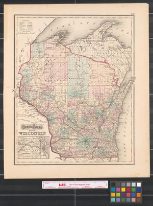 Primary view of object titled 'Gray's Atlas map of Wisconsin.'.
