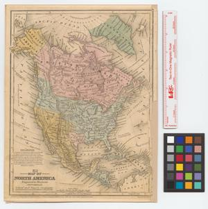 Primary view of object titled 'Map of North America : engraved to illustrate Mitchell's school and family geography.'.