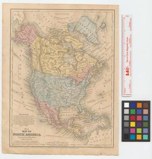 Primary view of object titled 'Map of North America : engraved to illustrate Mitchell's school and family geography'.