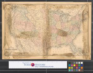 Primary view of object titled 'Map of the United States : Engraved to illustrate Mitchell's school & family geography.'.